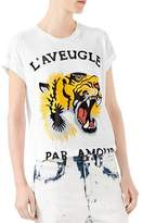 Gucci Tiger-Print Cotton Tee