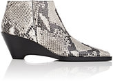 Acne Studios Women's Cammie Snakeskin-Stamped Leather Ankle Boots-WHITE, BLACK, NUDE