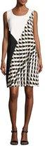 Lafayette 148 New York Diega Sleeveless Divided Dot-Print Tech Dress, Multi