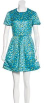 Markus Lupfer Banana Print Short Sleeve Dress