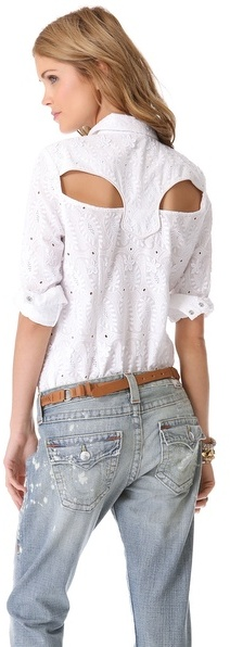 Rebecca Minkoff Eyelet Cowboy Shirt