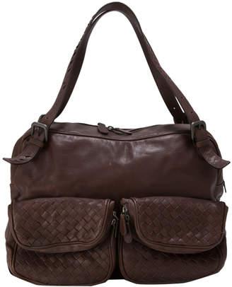 Bottega Veneta Brown Intrecciato Nappa Leather Shoulder Bag