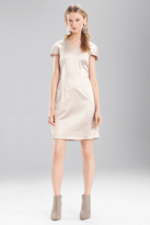 Josie Natori Stretch Embossed Crocodile VNeck Dress
