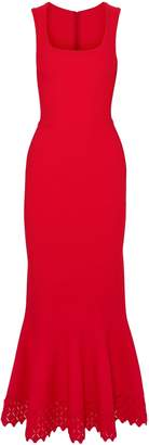 Alaia Fluted Laser-cut Stretch-knit Gown