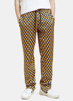 Gucci Men's Geometric Print Technical Jersey Pants In Yellow And Navy