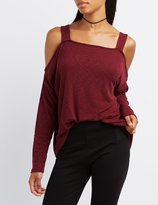 Charlotte Russe Ribbed Cold Shoulder Top