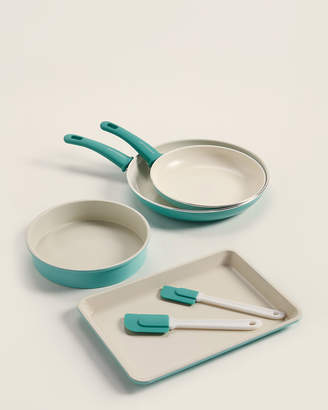 Greenlife 6-Piece Turquoise Ceramic Non-Stick Cookware Set