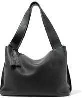 The Row Duplex Small Textured-leather Shoulder Bag - Black