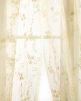 "Sweet Dreams Each Golden Crystal Palace Organza Sheer Curtain, 108""L"