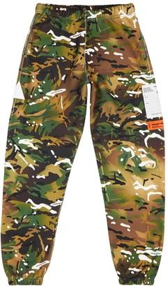 Heron Preston Camouflage-print cotton sweatpants
