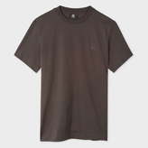 Paul Smith Men's Slim-Fit Charcoal Grey Embossed PS Logo Supima-Cotton T-Shirt