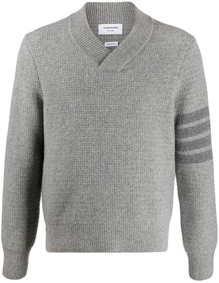 Thom Browne Overwashed Shaw Collar jumper