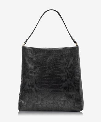 GiGi New York Harlow Hobo, Black Embossed Nappa Croco Leather