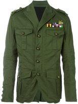 DSQUARED2 'Golden Arrow' military jacket - men - Cotton/Polyamide/Spandex/Elastane - 48