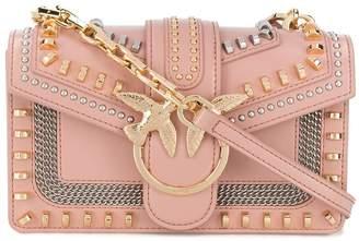 Pinko Mini Love Mix Stud crossbody bag