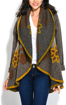 Yellow Floral Wool-Blend Cape