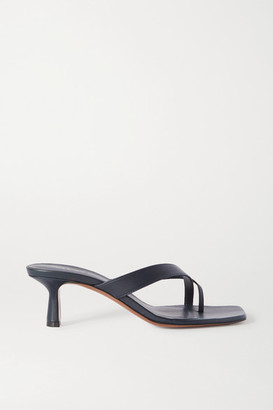Neous Florae Leather Sandals - Navy