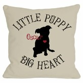 Personalized Little Puppy, Big Heart Throw Pillow One Bella Casa