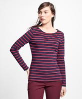 Brooks Brothers Stripe Jersey-Knit Top