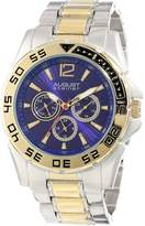August Steiner Men's AS8077TTG Analog Display Japanese Quartz Two Tone Watch