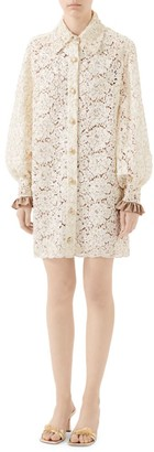 Gucci Floral Lace Shirtdress