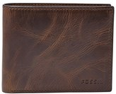 Fossil Men's 'Derrick' Rfid Leather Bifold Wallet - Brown
