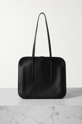 The Row Tr3 Leather Shoulder Bag - Black