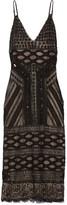 Alice + Olivia Silvia Embellished Tulle Dress - Black