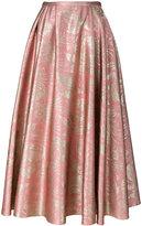 Rochas floral pattern skirt - women - Silk/Polyester/Cupro - 40