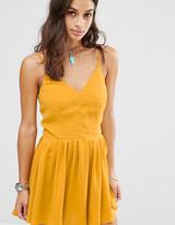 Glamorous Petite Cross Back Cami Mini Dress