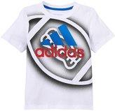 adidas Slam Dunk Shoot Tee (Toddler/Kid) - White - 5