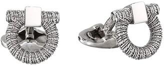 Salvatore Ferragamo Gancini Cufflinks 770240 (Silver) Cuff Links