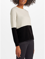 Marella Regalo Two Tone Jumper, White/Black
