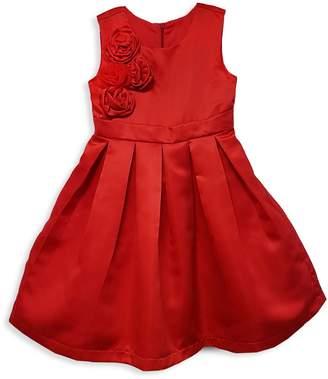 Joe Ella Little Girl's & Girl's Rosette Pleated Dress