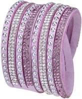 Rivertree Jewellery Slake Style Crystal encrusted Layered Rhinestone Rivet Wrap Bracelet 2017 New