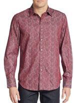 Robert Graham Classic-Fit Lenzie Cotton Sportshirt