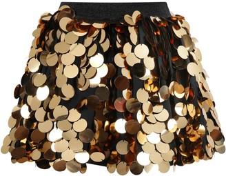 Sonia Rykiel Black Skirt For Girl With Sequins
