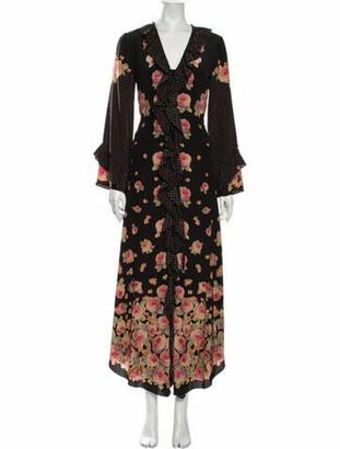 Vilshenko Silk Midi Length Dress Black
