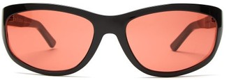 Acne Studios Oval Acetate Sunglasses - Mens - Black