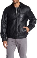 Rogue Short Spread Collar Leather Jacket