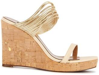 Aquazzura Rendez Vous 100 leather wedge sandals