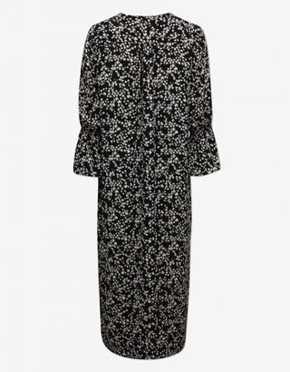 Baum und Pferdgarten Adessa Dress Black Ditsy Floral - size 14 | recycled plastic & spandex