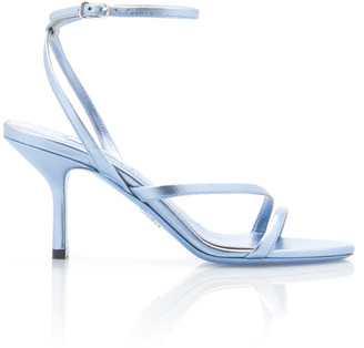 Prada Metallic Leather Sandals