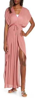 Elan International Wrap Maxi Cover-Up Dress