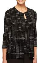 Alex Evenings Plus Two-Piece Grid Tunic Jacket and Tank Top