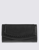 M&S Collection Leather Sunray Purse with CardsafeTM