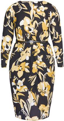 City Chic Golden Mood Maxi Dress - black