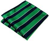 "Shlax & Wing Shlax&Wing Stripes Blue Mens Pocket Square Hanky Large 12.6"" Silk"