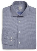 Ike Behar Regular-Fit Patterned Cotton Dress Shirt