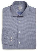 Ike Behar Regular-Fit Patterned Cotton Dress Shirt